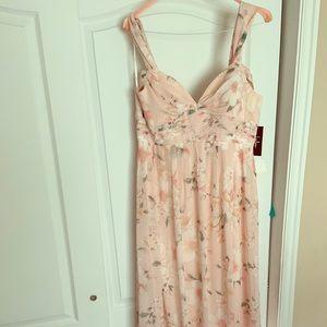 LuLus Blush Pink Floral Maxi Dress